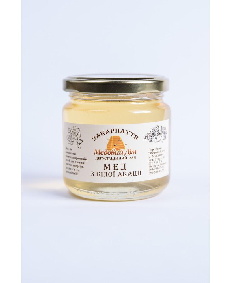 Мед з білої акації 0,2л.