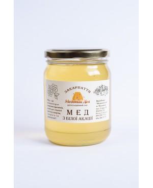 Мед з білої акації 0.5л.