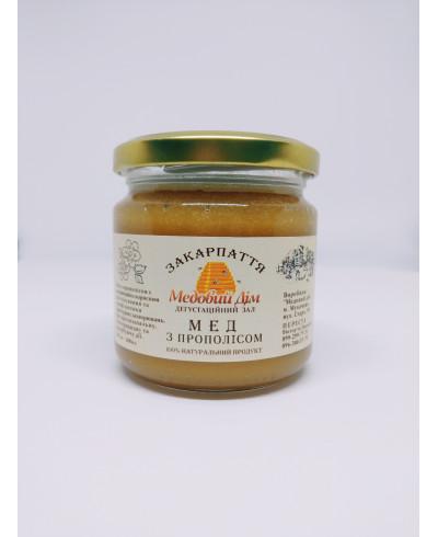 Мед з прополісом 0,2л.